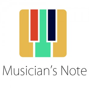 musician's note logo